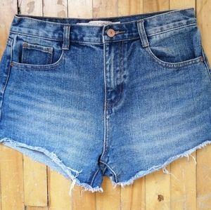 High-Waisted Medium Washed Jeans Short